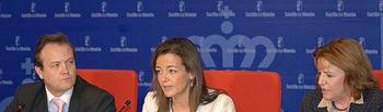 Paloma Leis, con Juan Jose Garcia Ferrer y Dolores Llario. Foto: JCCM.