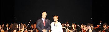 El diputado provincial de Educación, Félix Diego Peñarrubia, asiste al concierto de clausura del curso en el Real Conservatorio Profesional de Música