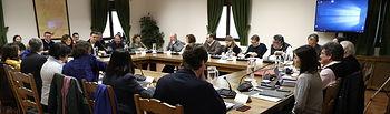 El presidente, Pedro Sánchez, junto a todos los miembros de su Gobierno, en la sesión de trabajo celebrada en Quintos de Mora. Foto: fervero-67
