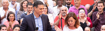 Pedro Sánchez en Palma de Mallorca. Foto: EVA ERCOLANESE