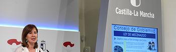 La consejera de Economía, Empresas y Empleo, Patricia Franco, ofrece una rueda de prensa, en el Palacio de Fuensalida, para valorar los datos del paro correspondientes al mes de agosto y la consejera de Igualdad y portavoz, Blanca Fernández, informa de asuntos relacionados con el Consejo de Gobierno. (Fotos: José Ramón Márquez // JCCM)  13 visitas 0 favoritos 0 comentarios Tomada el 3 de septiembre de 2019  Algunos derechos reservados Esta foto está en 1 álbum.