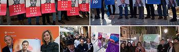 Pegada de Carteles por las Elecciones Generales en Albacete