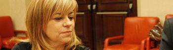 Elena Valenciano, este martes en el Congreso