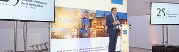 Mariscal durante la presentación de las Ciudades Patrimonio en Valencia.