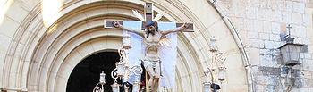 Semana Santa Albacete - Cristo Crucificado - Salida de la Catedral - 23-03-16