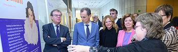 El ministro en funciones de Ciencia, Innovación y Universidades, Pedro Duque, y el rector de la Universidad regional, Miguel Ángel Collado . Foto: COPYRIGHT