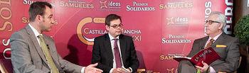 Dionisio Gómez, gerente del Palacio de Exposiciones y Congresos de Albacete, José Manuel Fernández, director gerente del Hotel Beatriz de Albacete, y Manuel Lozano, director del Grupo de Comunicación La Cerca.