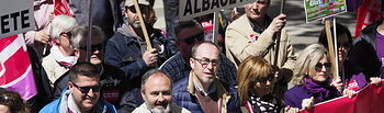 Manifestación del primero 1 de Mayo en Albacete