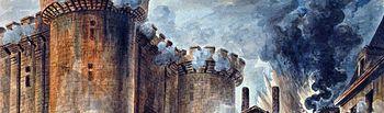 Oleo de la Toma de La Bastilla durante la Revolución Francesa.