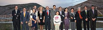 Lamata con los premiados en la pasada edición del certamen regional de diabetes en Cuenca