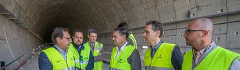 Visita a las obras del tren híbrido en Hellín (Albacete).