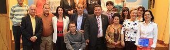 Fotos de la Candidatura con algunos otros candidatos de pueblos vecinos y personalidades del Partido