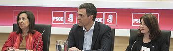 El secretario general Pedro Sánchez mantiene una reunión con representantes de las asociaciones judiciales y fiscales.