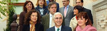 El presidente de Castilla-La Mancha, José María Barreda, en una imagen de archivo, durante el encuentro que mantuvo en la sede de la Presidencia regional con miembros de la Federación de Periodistas de Castilla-La Mancha y de FAPE.