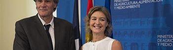 Stéphane Le Foll e Isabel García Tejerina (Foto: Ministerio de Agricultura, Alimentación y Medio Ambiente)