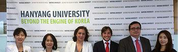 Delegación de la UCLM en su visita a la Universidad de Hanyang.