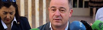 Emilio Sáez, candidato del PSOE a la alcaldía de Albacete, ejerce su derecho al voto en las Elecciones Europeas, Autonómicas y Municipales del 26M de 2019