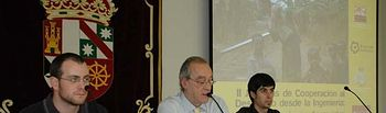 Cayetano Solana, Eliseo Cuadrao y David Sánchez.
