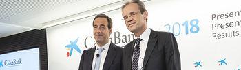 Gonzalo Gortázar, consejero delegado de CaixaBank, y Jordi Gual, presidente de CaixaBank.
