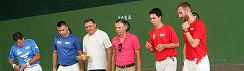 Pastrana inaugura las nuevas instalaciones de su frontón municipal con una exhibición de pelota a mano