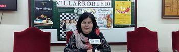 Trinidad Moyano, concejala de Cultura del Ayuntamiento de Villarrobledo.