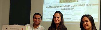 Rubén Sobrino, Pilar Gómez y Amparo Moyano.
