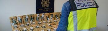 La Policía Nacional intercepta un trailer cargado con 50 kilos de cocaína en La Junquera. Foto: Ministerio del Interior