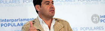 El presidente del PP andaluz, Juan Manuel Moreno