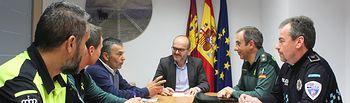 El subdelegado del Gobierno asiste a la Junta Local de Seguridad de Pozo Cañada
