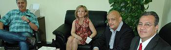 Antonio Baylos y Mª José Romero con los representantes de la Universidad San Carlos (Guatemala)
