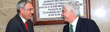 El presidente de Castilla-La Mancha, José María Barreda, acompañado del el rector de la Universidad de Castilla-La Mancha, Ernesto Martínez-Ataz, inauguró la ampliación del CEU en Talavera de la Reina (Toledo).