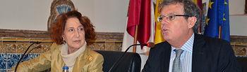 El rector acompañó a Carmen Iglesias en su visita al Campus de Toledo.