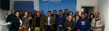 Reunión con la junta local de Daimiel a la que asistió el diputado provincial Félix Martín