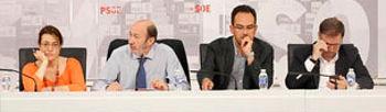 Un momento de la reunión celebrada en Ferraz