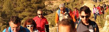 Espectacular y exigente la XV Ruta Provincial de Senderismo organizada por la Diputación en Ayna