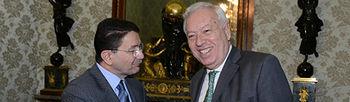 El ministro García-Magallo con el secretario general de la Organización Mundial del Turismo, Taleb Rifai. Foto Maec