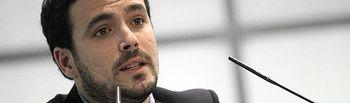 Alberto Garzón. Líder de Izquierda Unida (IU).