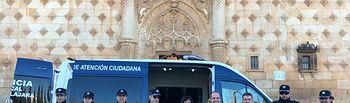 Presentación del nuevo furgón de atestados y atención ciudadana de la Policía Local en la Plaza del Infantado.