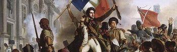 Pintura de una imagen de una Revolución de 1848.