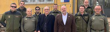 El delegado provincial de la Consejería de Desarrollo Sostenible se reúne con los agentes medioambientales de la comarca de Valdepeñas.