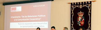 Imagen de la anterior edición de seminario, con el profesor Herranz a la izquierda en la mesa