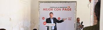 Acto público en Villanueva de los Infantes (Ciudad Real) (FOTOS: José Ramón Márquez/PSCMPSOE)).