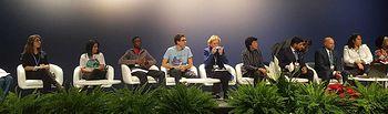 Debate Children and Youth vs Climate Change, organizado por UNICEF. Foto: Twitter Isabel Celaá @CelaaIsabel