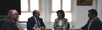 Fernández ha mantenido una reunión con el presidente de la Cámara de Comercio de Ciudad Real, Mariano León
