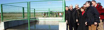 El presidente de Castilla-La Mancha, José María Barreda, y la ministra de Medio Ambiente, Rural y Marino, Elena Espinosa, visitaron las obras de emergencia para el envío de agua a las Tablas de Daimiel.
