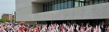 Concentración de CCOO en Castilla y León