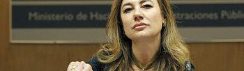 Marta Fernández Currás en el Congreso (Foto de archivo EFE)