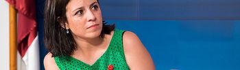 Adriana Lastra, coordinadora de la Plataforma de Apoyo a Pedro Sánchez.