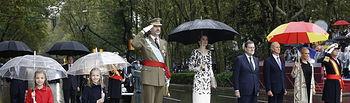 S.M. El Rey Felipe VI junto al resto de la Familia Real durante la Celebración del Día de la Hispanidad, Fiesta Nacional Española
