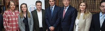 La secretaria general del PP-CLM, Carolina Agudo, y el secretario de Justicia del PP a nivel nacional, Rafael Catalá, se reúnen con asociaciones jurídicas profesionales en Albacete.